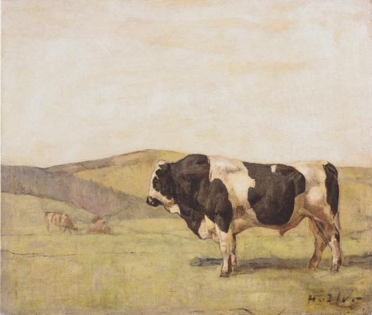 Ferdinand Hodler le taureau 1878