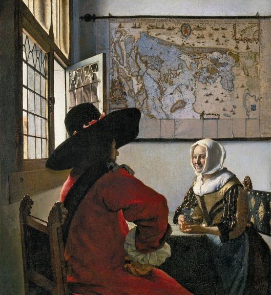 Vermeer L'homme et la fille riante