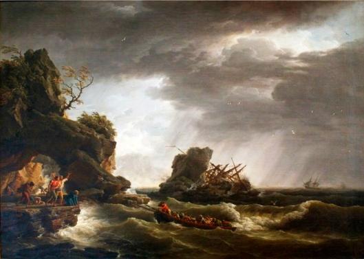 Vernet - naufrage d'un voilier sur des rochers
