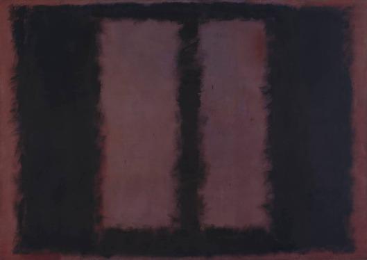 Black on Maroon 1958 by Mark Rothko 1903-1970